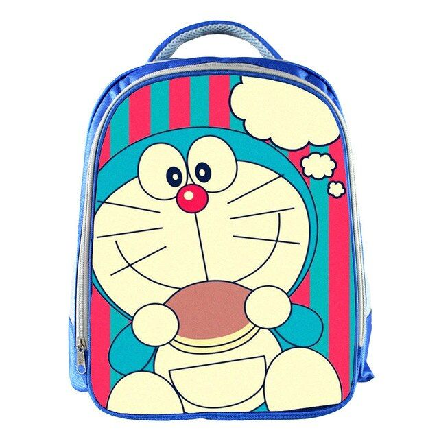 New Cartoon Doraemon 13 Inch Blue Backpack School Bags For Little Cute Kids Bag Child School Backpack For Baby