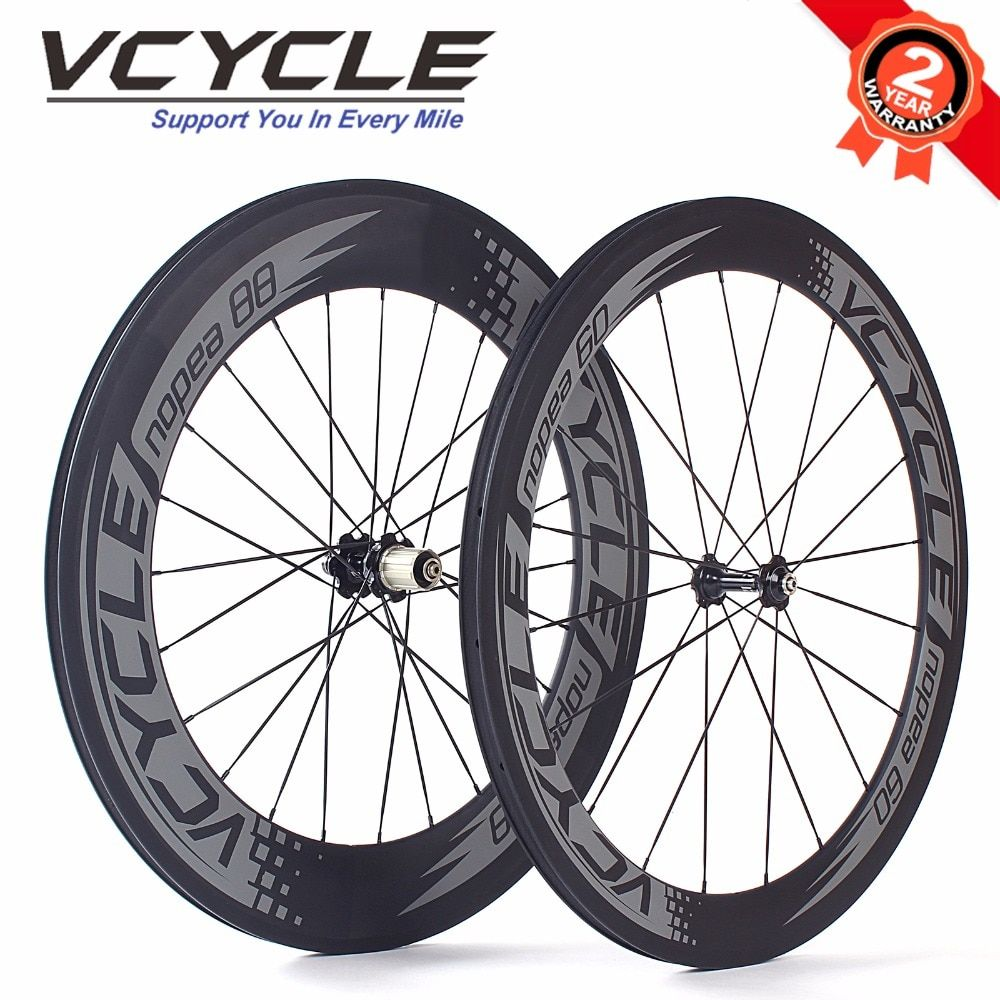 VCYCLE Front 60mm Rear 88mm Road Bike Carbon Wheels 700C BIcycle Carbon Wheelset