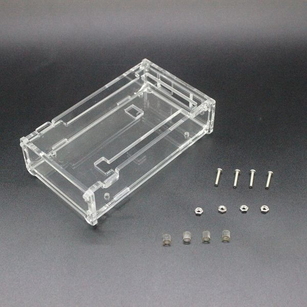 Free shipping! Enclosure Transparent Gloss Acrylic Box Compatible for arduino Mega 2560 R3 Case