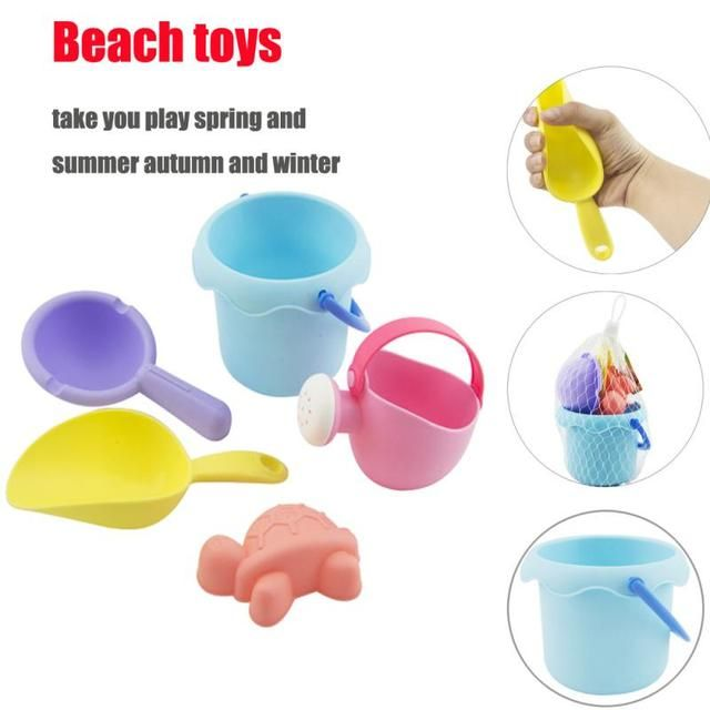 Beach toys for kids sand water Summer children beach toy TPE Sandbeach Kids Beach Castle Bucket Spade Shovel Rake Water Tool
