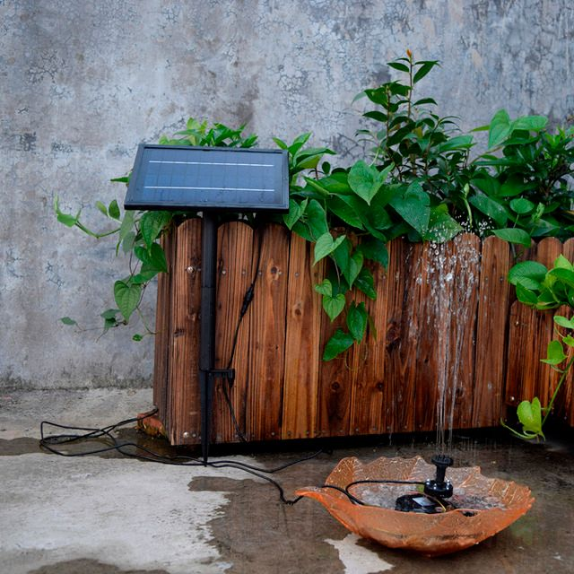 SP025 Modern Design Home Garden Decoration Mini Solar Powered Solar Panel Fountain Pool Garden Watering Pump