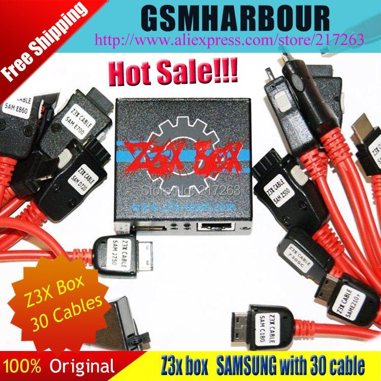 100% Original Z3X Box Edition Unlock & Flash & Repair For Samsung Cell phones With 30 Cables +DHL Free Shipping ALL 5+ Feedback