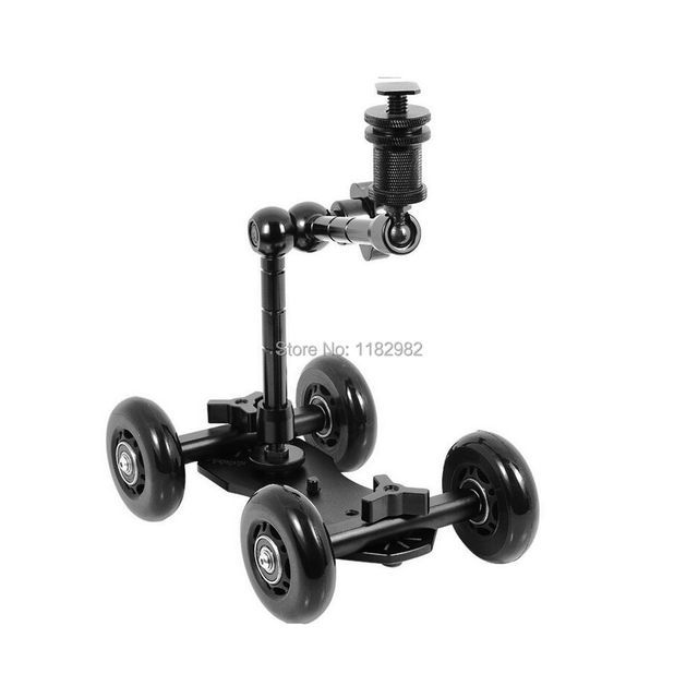 "Exempt postage + tracking number 2in1 1 set  11""Magic Arm + black Dolly Skater Truck Car Camera Truck Car For all DSLR camera"