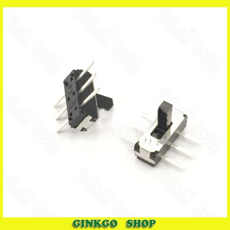 200pcs/lot Toggle Switch Vertical 6 pin 2 Position Handle Height 4.0 Mini Slide Switch Straight-pin Aircraft Type