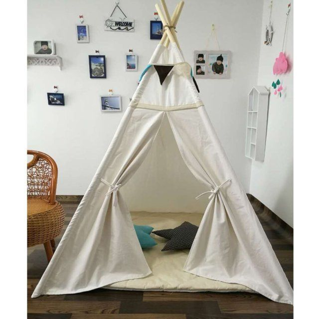 Free Love @New design white color kids play tent indian teepee children playhouse children play room teepee