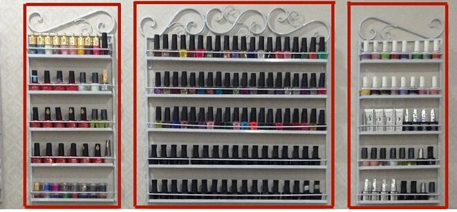 wrought iron wall hanging nail polish. Nail salons receive rack shelf.