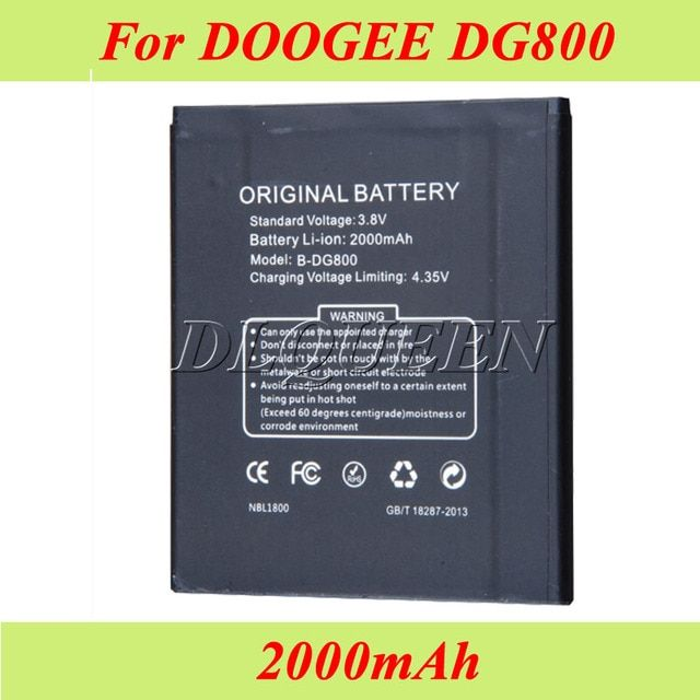 2000mAh For Doogee DG800 Battery Batterie Bateria AKKU Accumulator