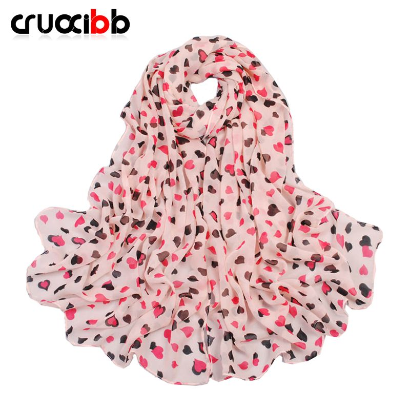 new arrive scarf women  lovely heart lady scarf chiffon long all-match scarves spring and autumn winter long scarf