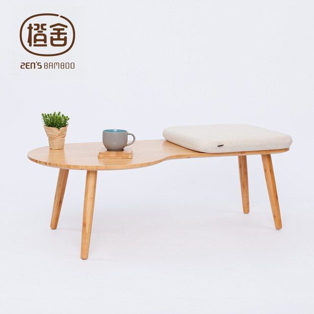 ZEN'S BAMBOO Coffee Table Assembly Tea Table Modern Simple Design Stool Table Living Room Balcony Outdoor Tatami Home Furniture