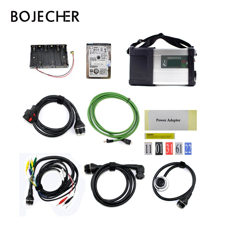 Newest MB SD Connect Compact C5 Star Diagnosis with WIFI for Cars and Trucks Multi-Langauge diagnostic tool 2018.3 HDD