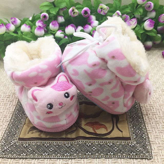 New Infant Toddler Newborn Baby Shoes original brand Classic Sports Pink lovely cat Bebe Soft Bottom Anti-slip pink Shoes sh004