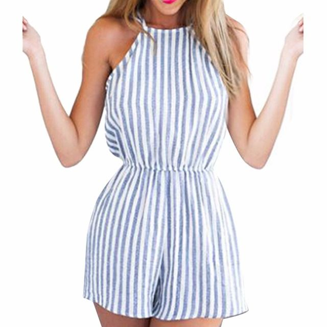 Women/ Girl Striped Playsuit Bodycon Party Jumpsuit Romper