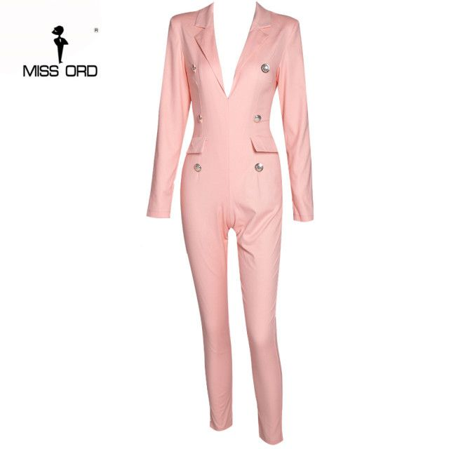 Missord 2017 Sexy Deep-V long sleeve jumpsuit FT4903