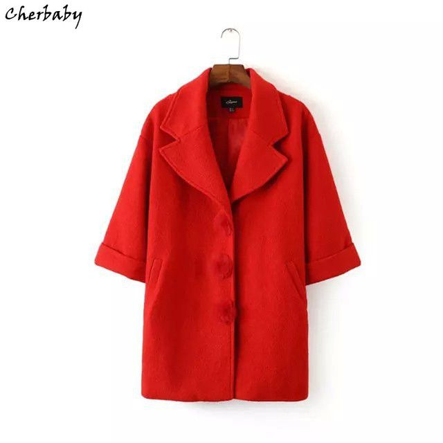 New winter woolen coat European style singer-breasted wool coat stylish atmosphere