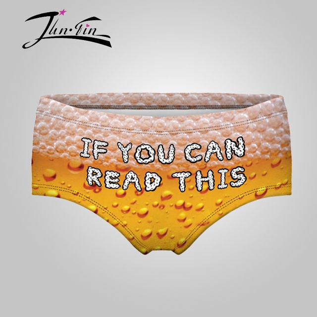 I must be drunk Beer 3d Print female panties   crotchless panties  women  underwear lingerie  printed briefs