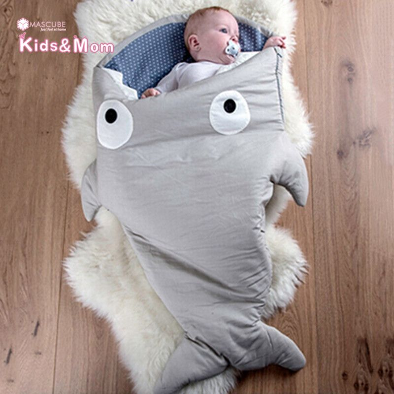 Hot Sale Baby Blankets Newborn Animal Shape Infant Swaddle Sleeping Bag Baby Bedding Envelope for Newborns Mermaid Tail Blanket