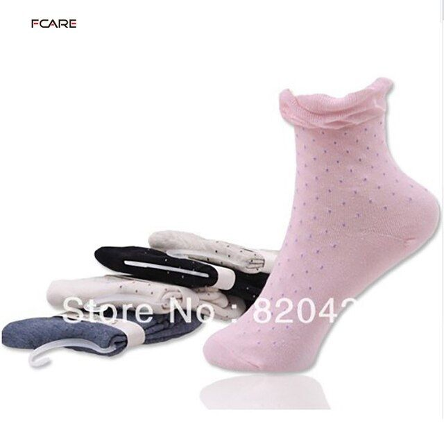 2014 new 18pcs=9pairs spring and autumn 100% cotton female socks polka dot knee-high pile of pile of socks 100% cotton socks