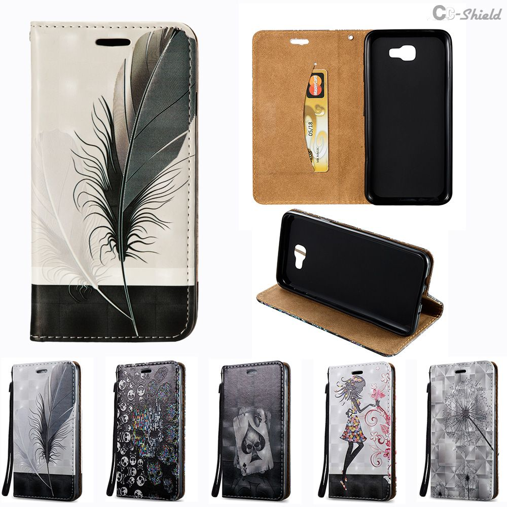 3D Flip Case for Samsung Galaxy J5 J 5 Prime Duos G570F DS SM-G570F G570F/DS SM-G570F/DS J5Prime Case Phone Bag Leather Cover