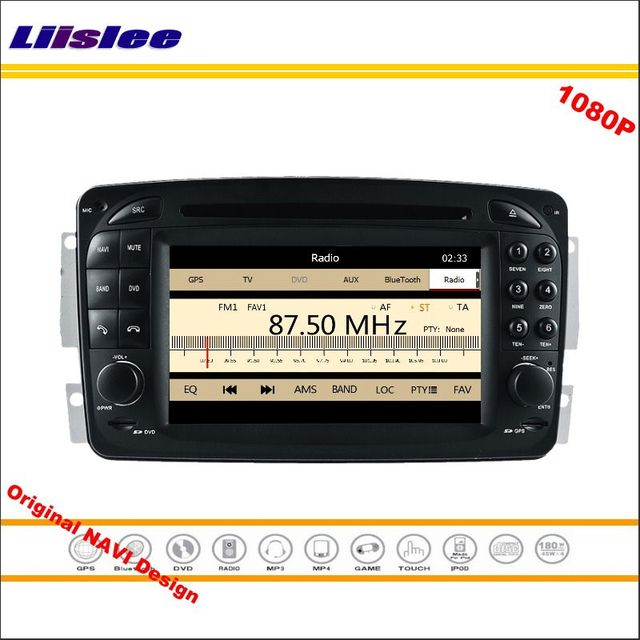 Liislee For Mercedes Benz CLK W209 2004~2011 Car Radio CD DVD Player GPS Navigation 1080P HD Screen System Original NAVI Design