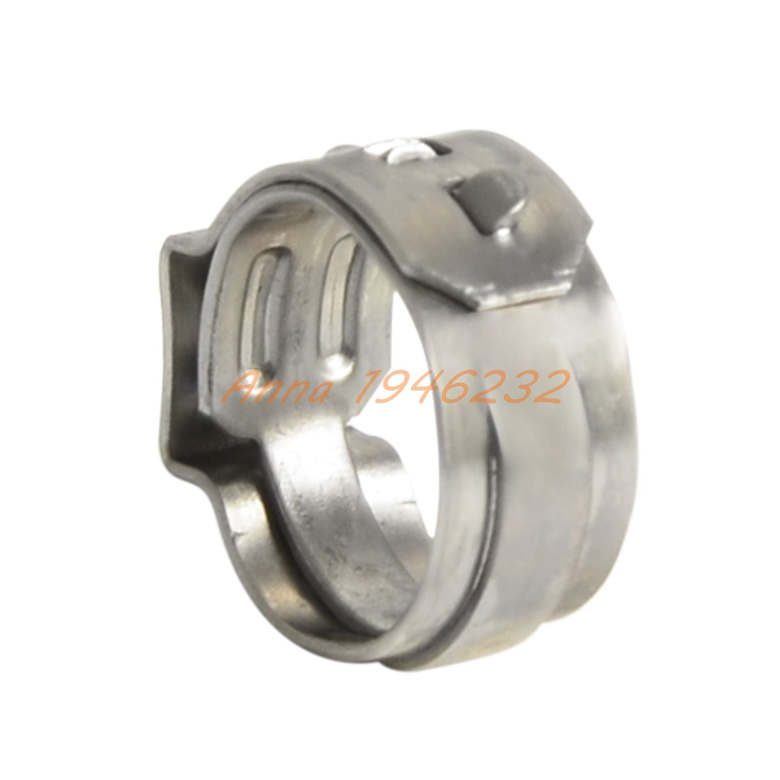 "Stainless Steel Hose Pipe Clamp Cinch Ring Crimp Pinch Fitting For 3/8"" PEX Tubing"