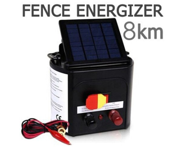 Adjustable Solar Panel 0.3J Sheep Horse Solar Electric Fence Energizer Charger 8KM Solar Electric Fencing For Farm