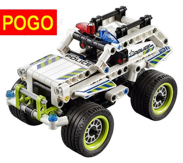 POGO 2sets 3418 Technic series GETAWAY RACER Building Block Educational Car Model DIY Bricks Baby Toys compatible with e