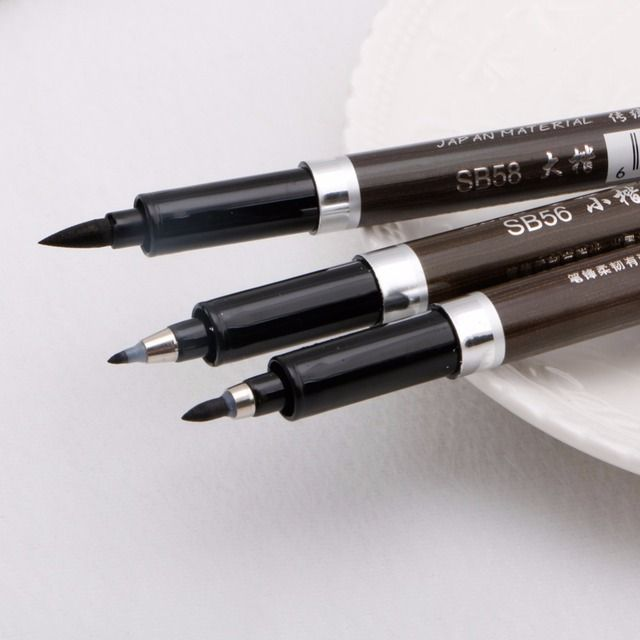 Free delivery 1 pc Chinese Japanese Calligraphy Writing Art Script Painting Tool Brush Pen Set New