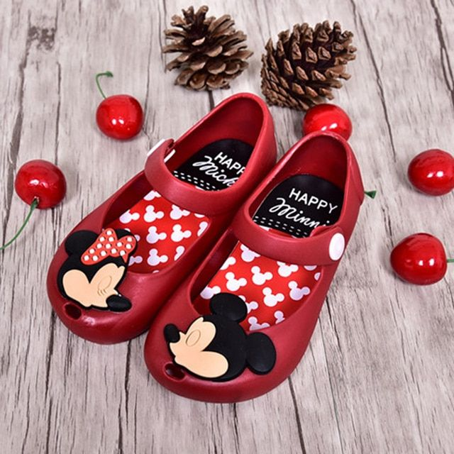 2017 Mickey & Minnie Mini Melissa Jelly Shoes Baby Boys Girls Sandals Soft Comfort Toddler Girl Sandals Beach Sandals for Kids