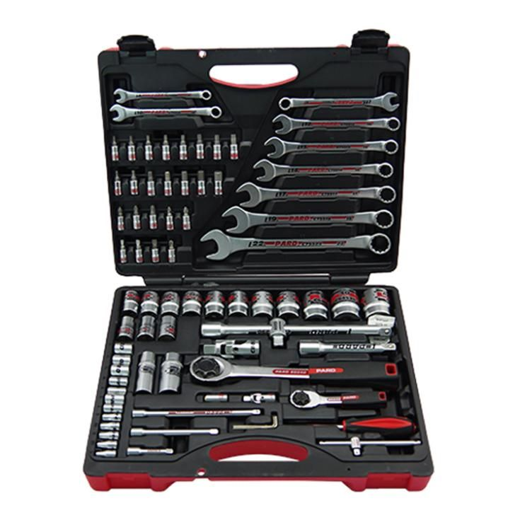 Professional hand tool set industrial Auto repair  tools set 1/4 1/2 socket set Ring/open combination tools ratchet wrenches