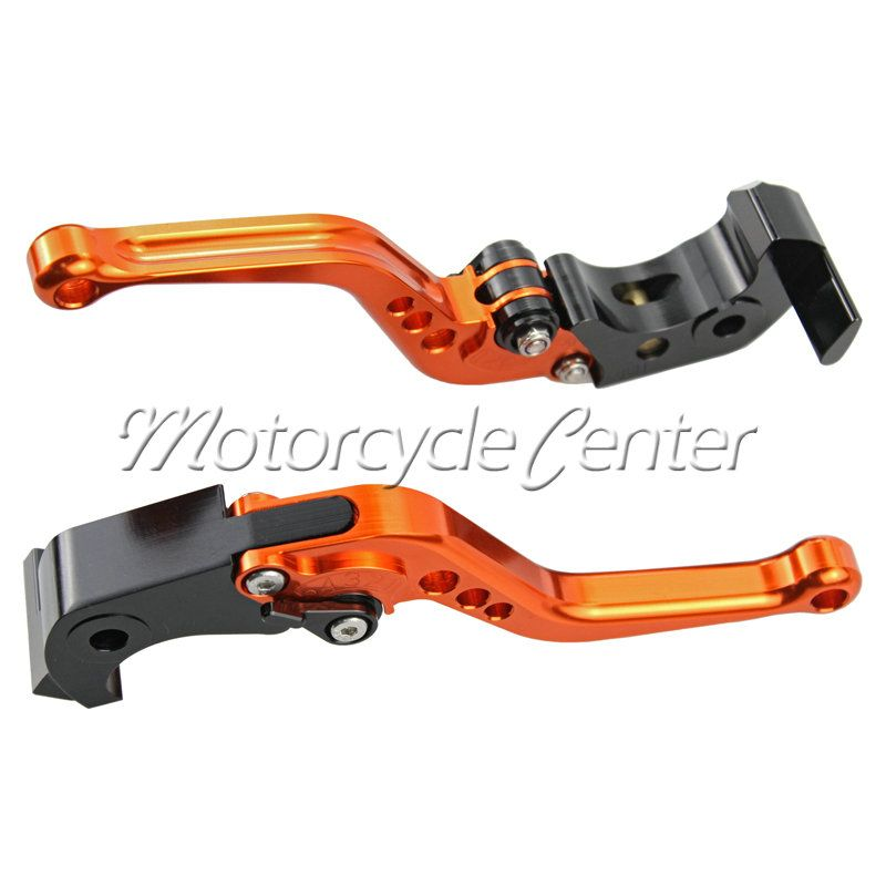 Motorbike Accessories CNC Short Brake Clutch Lever For Suzuki DL1000 Katana 650 GSX650F Bandit 1200S 1250S GSF650 GSX1250 Orange