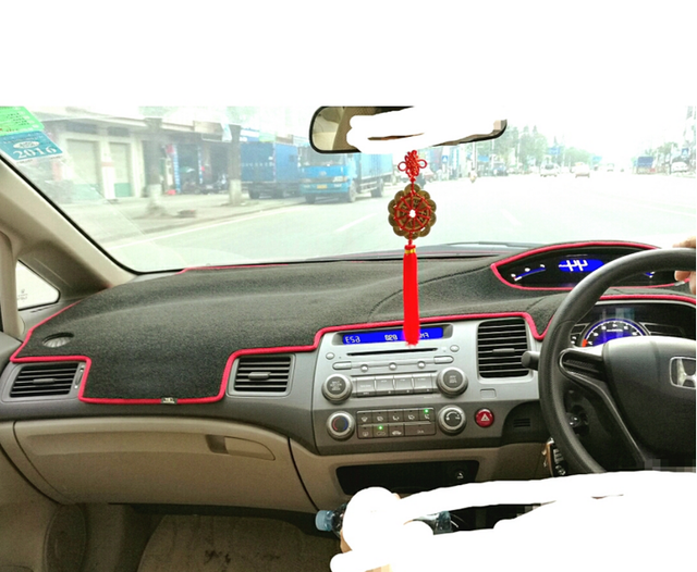 Dashmats car-styling accessories dashboard cover for honda civic si type r 2006 2007 2008 2009 2010 2011 8th rhd
