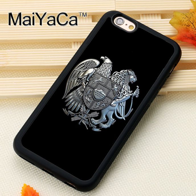 MaiYaCa Cool Armenia Flag Printed Mobile Phone Cases OEM For iPhone X 6 6S Plus 7 8 Plus 5S 5C SE Soft Rubber Back Cover Shell