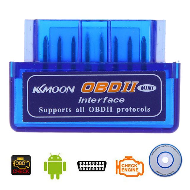 Kkmoon Mini V2.1 ELM327 OBD2 Bluetooth Interface Auto Car Scanner Diagnostic Tool for Android