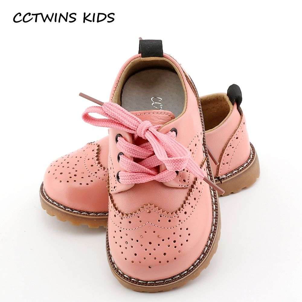CCTWINS Kids Shoes spring autumn child pink flat genuine leather toddler fashion shoe baby girl brand loafer oxford white G973
