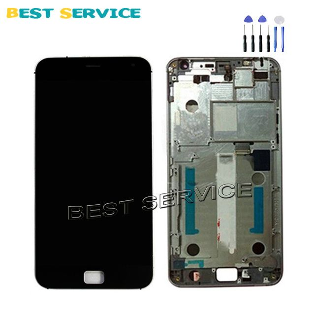 100% Tested New For Meizu MX4 Pro LCD Screen Display + Touch Screen Digitizer Assembly with Frame For Meizu pro 4