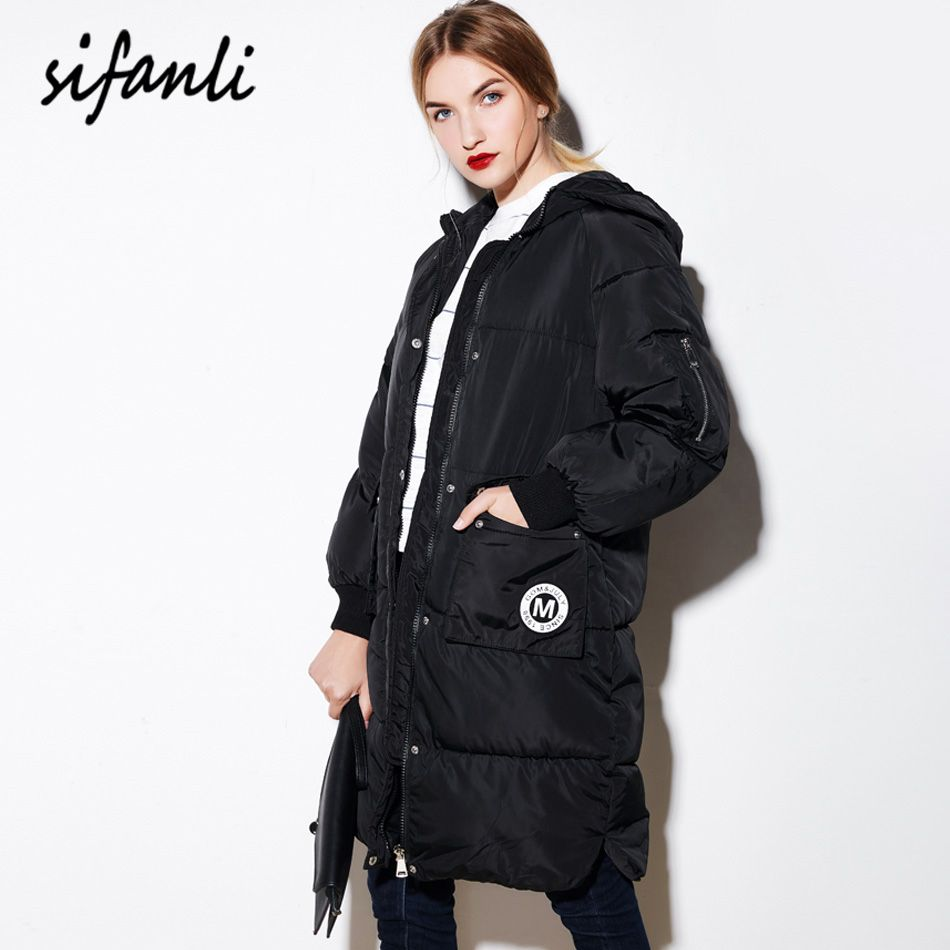 Plus Size 2016 Winter Jacket Women Casual Military Parka Women Jackets Female Hooded Coat long section Down Cotton Coat