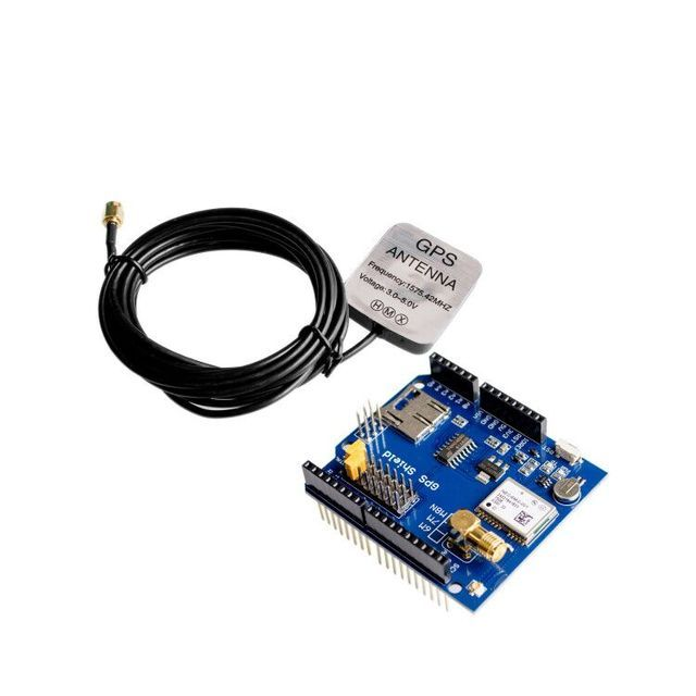shipping! GPS Shield GPS record expansion board GPS module with SD slot card With Antenna for  UNO R3