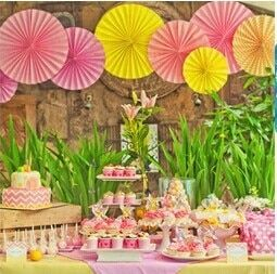 12pcs 15cm (6inch)Single-Layer Paper Fans  Wedding Backdrop Reception Decoration Frozen Party Supplies Birthday Party