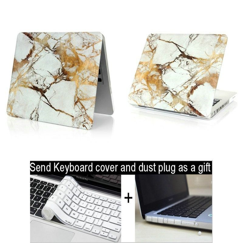 Marble Hard Brain Stars Painting Case for Macbook Air Pro 11 12 13 15 Retina Colors Touch Matte Wood Laptop Cover Protect Shell