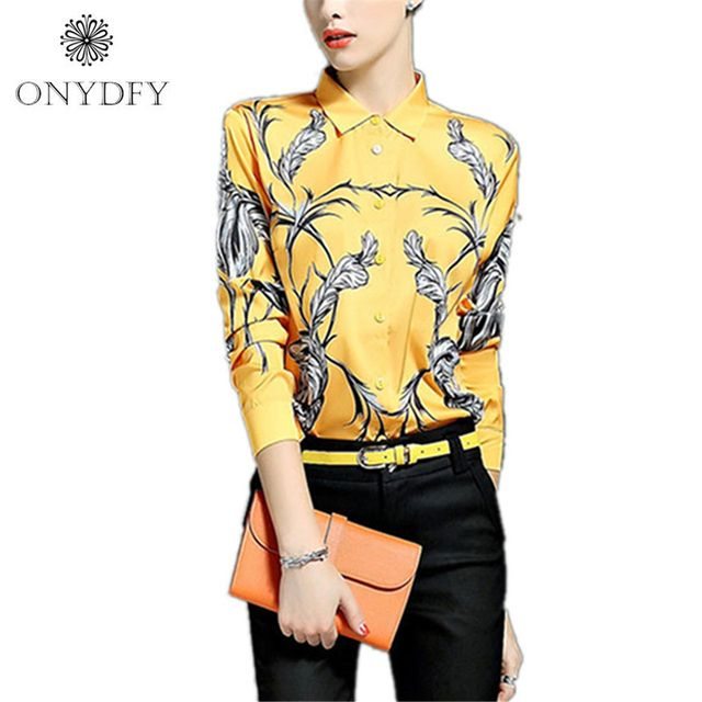 European Floral Print Blouse Vintage Long Sleeve Shirt Women Tops And Blouses Camisas Feminina 2016 Ladies Office Shirts