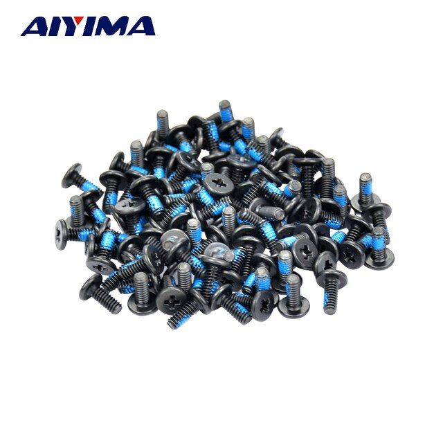 AIYIMA 100pcs M2*3/4/5/6/8/10mm Small flat head Laptop Screws Mobile notebook cruciform slot  cross recessed screw