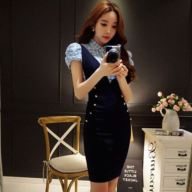 Original 2016 Brand Faldas Plus Size Summer Style Elegant Casual Slim High Waist Short Midi Pencil Braces Skirts Women Wholesale
