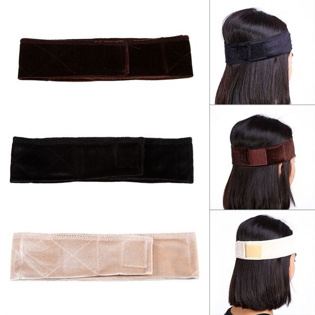 New Style 3 Colors Hot Wig Hair Band Velvet Hair Band Adjustable Velvet Wig Grip Hair Band Headband Wiggery Accessery Headband
