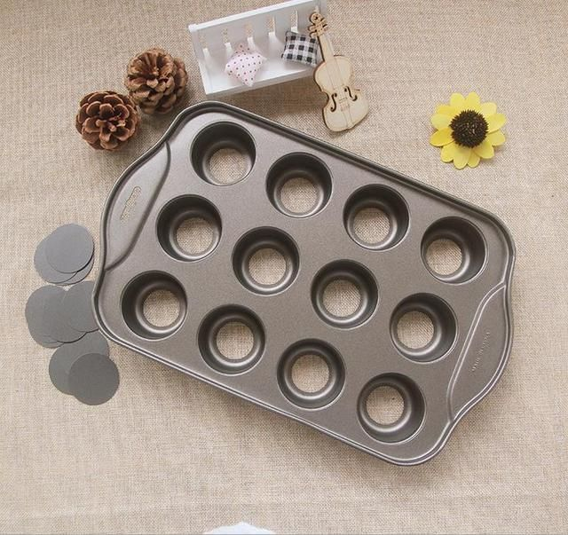 Free Shipping Nonstick Round Shaped 12 Mini Cheesecake Pan Cake Mold Drop Bottom Carbon Steel DIY Bakeware
