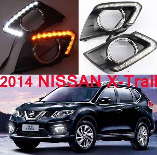 Car-styling, X-Trail daytime light,2008~2013/2014~2016,LED,Free ship!2pcs,X-Trail fog light;car-covers, X-Trail headlight,XTrail