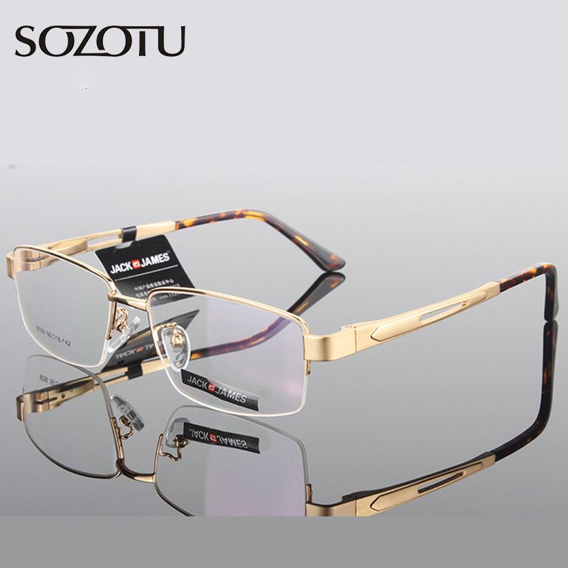 Aluminum Magnesium Optical Eyeglasses Frame Men Computer Glasses Spectacle Frame For Male Transparent  Armacao  de YQ181