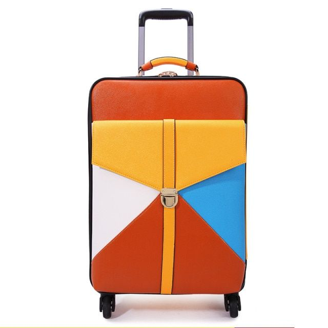 Travel bag trolley luggage wheels female universal colorant match 16 18 20 22 24 luggage box sets,women travel luggage sets