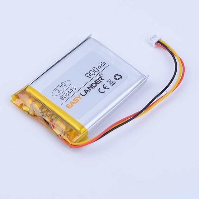 603443 3.7V 900mAh  Lithium li-Polymer Li-ion Rechargeable Battery For Mp3 MP4 MP5 GPS PSP DVR papago 730 260 Driving recorder