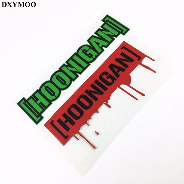 2 Styles Motocross Helmet Bike Vinyl Moto Racing Car Reflective Sticker for DC Kenblock Hoonigan Bloody