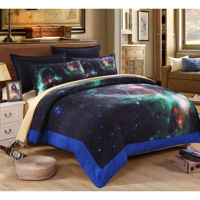 3D galaxy  Bedding set  king/queen/full size bedding sets  4pcs quilt /bed sheets / pillowcases   lit space bedding set